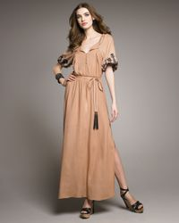 Elizabeth and James | Natural Roblyn Embroidered Dress | Lyst