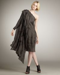 Kelly Wearstler | Brown Dorian One-shoulder Dress | Lyst
