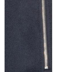 Boutique Moschino - Blue Wool-blend Felt Pencil Skirt - Lyst