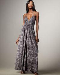 Rebecca Taylor | Gray Fuzzy Leopard Maxi | Lyst