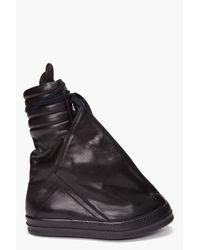 Rick Owens | Black Turbo Geo Basket Sneakers for Men | Lyst