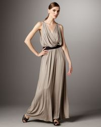 Robert Rodriguez - Natural Draped Jersey Maxi Dress - Lyst