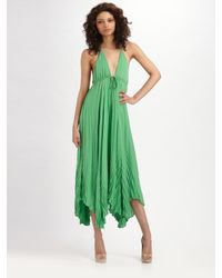 Alice + Olivia | Green Adalyn Keyhole Maxi Dress | Lyst