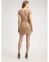 Alice + Olivia - Natural Hallie Sequined Tunic Dress - Lyst