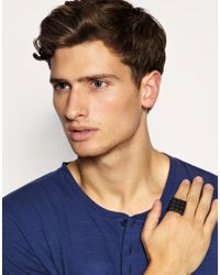 ASOS Collection | Black Asos Super Pyramid Stud Ring for Men | Lyst