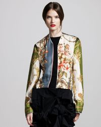 Comme des Garçons | Black Floral-print Jacket | Lyst
