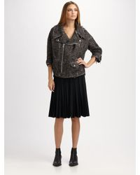 Junya Watanabe   Black Pleated Wool Skirt   Lyst