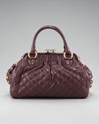 Marc Jacobs   Brown Stam Lacquered Satchel   Lyst