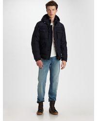 Moncler | Blue Andersen Bomber Jacket for Men | Lyst