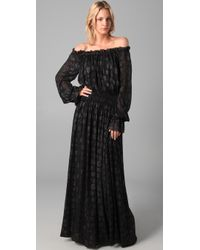 Rachel Zoe | Black Diane Blouson Maxi Dress | Lyst
