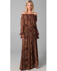 Rachel Zoe | Multicolor Panther Print Maxi Dress | Lyst