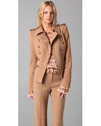 Rachel Zoe | Brown Military Jacket | Lyst