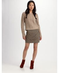 Rag & Bone   Brown Lomond Tweed Skirt   Lyst