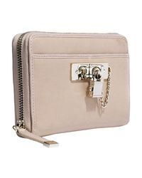 Reiss - Natural Lock Detail Wallet - Lyst