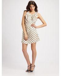Sonia by Sonia Rykiel | Natural Polka Dot Dress with Bow | Lyst