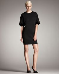 Stella McCartney | Black Sleeveless Tuxedo Dress W/horse Hem | Lyst