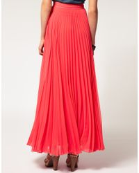 ASOS Collection - Blue Asos Pleat Maxi Skirt - Lyst