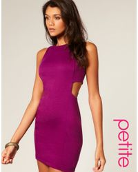 ASOS Collection | Purple Asos Petite Cut Out Shift Dress | Lyst