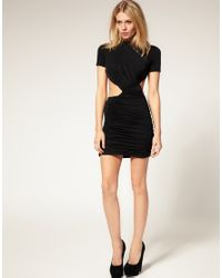 ASOS Collection | Black Asos Petite Exclusive Cut Out Slinky Dress | Lyst