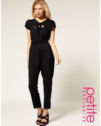 ASOS Collection | Black Asos Petite Exclusive Jumpsuit with Cut Out Back | Lyst