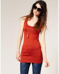 ASOS | Red Basic Longline Vest | Lyst
