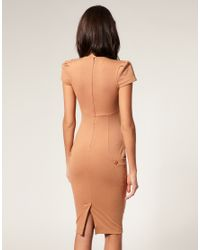 ASOS Collection - Blue Asos Ponti Pencil Dress with Pockets - Lyst