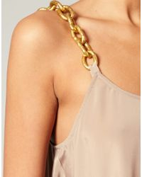 ASOS Collection - Pink Asos Petite Chain Strap Crepe Swing Dress - Lyst