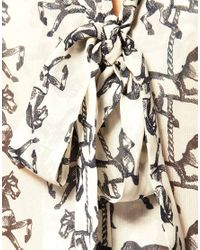 ASOS Collection - Black Asos Petite Tunic in Carousel Horse Print - Lyst