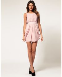 ASOS Collection | Purple Asos Tulip Dress with Tie Back | Lyst