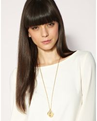 ASOS Collection - Metallic Asos Spinning Ball Love Makes The World Go Round Long Pendant - Lyst