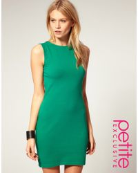 ASOS Collection | Green Asos Petite Exclusive Cross Back Mini Dress | Lyst