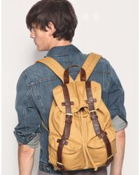 ASOS Collection | Yellow Asos Canvas Backpack for Men | Lyst
