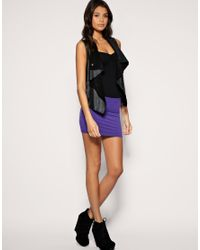 ASOS Collection - Purple Asos Jersey Micro Mini Skirt - Lyst