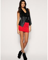 ASOS Collection | Red Asos Jersey Micro Mini Skirt | Lyst