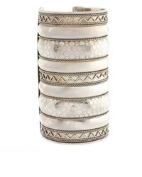 ASOS Collection | Metallic Asos Wide Patterned Textured Cuff | Lyst