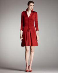 Chado Ralph Rucci | Red Zip-front Ponte Dress | Lyst