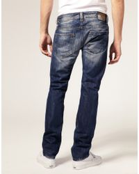 DIESEL | Blue Faded Jeans for Men | Lyst