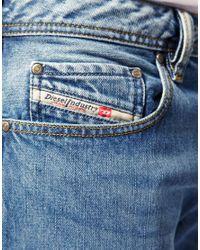 DIESEL - Blue Diesel Zatiny 73p Bootcut Jeans for Men - Lyst