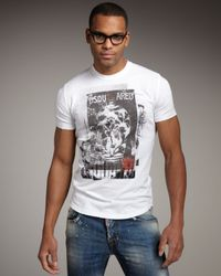 DSquared² - White Slim-fit Graphic Tee for Men - Lyst