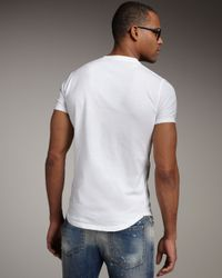DSquared² | White Slim-fit Graphic Tee for Men | Lyst