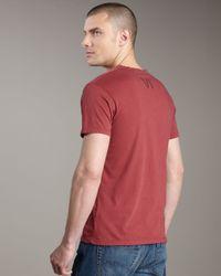 Royal Underground | Red Vi Short-sleeve Henley for Men | Lyst