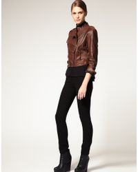 Very By Vero Moda | Brown Vero Moda Very Loose Fit Leather Jacket | Lyst