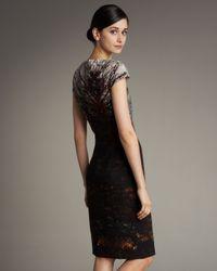 Akris - Brown Wedding Tower-print Shift Dress - Lyst