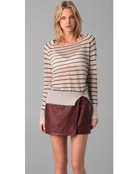 A.L.C. | Natural Striped Sweater | Lyst