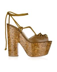 Christian Louboutin   Brown Jerry 160 Lace-up Leather Sandals   Lyst