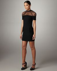 Christopher Kane | Black Crissy Tulle-neck Dress | Lyst