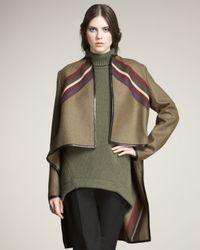 Derek Lam | Green Wool Cape Jacket | Lyst