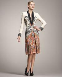 Etro | White Long-sleeve Coat Dress | Lyst