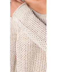 Free People - Natural Sahara Star Knit Sweater - Lyst