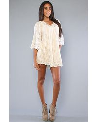 Free People | Natural The Camilles Charm Tunic | Lyst